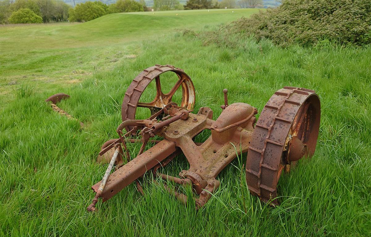 Old greenkeeping machinery