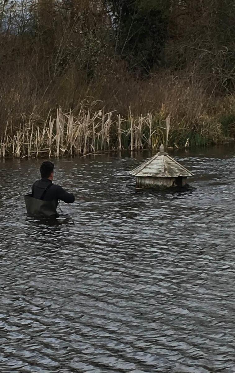 Royal Mid Surrey's floating nest box